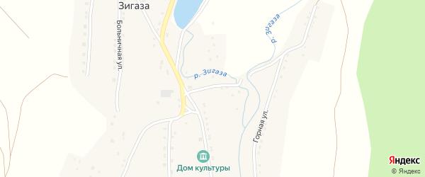 Абонентский ящик Интернациональная на карте села Зигазы с номерами домов