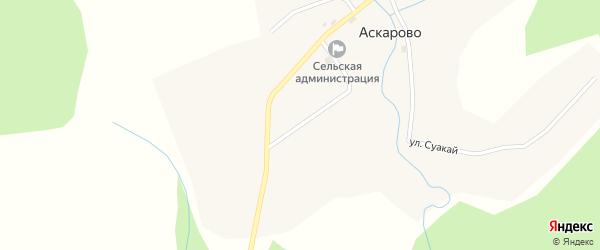 Улица Самата Габидуллина на карте деревни Аскарово с номерами домов