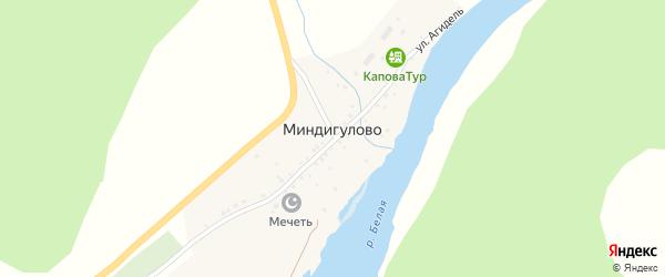 Улица Тиракле на карте деревни Миндигулово с номерами домов