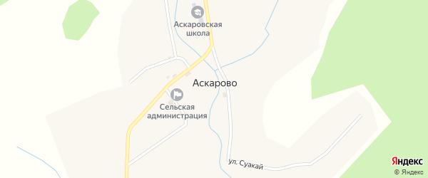 Молодежная улица на карте деревни Аскарово с номерами домов