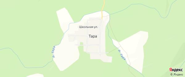 Карта села Тары в Башкортостане с улицами и номерами домов