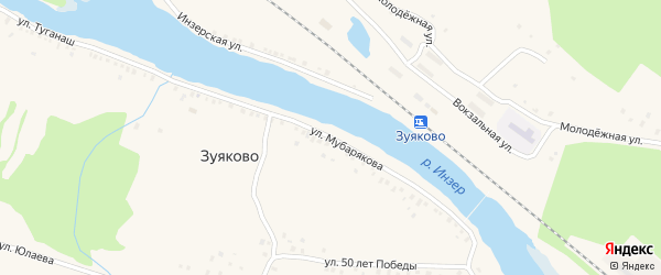 Улица А.Мубарякова на карте села Зуяково с номерами домов