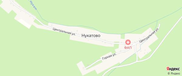 Центральная улица на карте села Нукатово с номерами домов