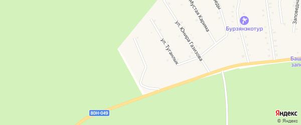 Улица Раймана Ишбаева на карте села Старосубхангулово с номерами домов