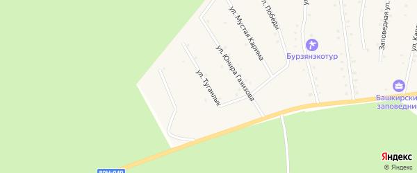 Улица Туганлык на карте села Старосубхангулово с номерами домов