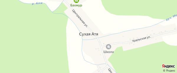 Южная улица на карте поселка Сухой Атя с номерами домов