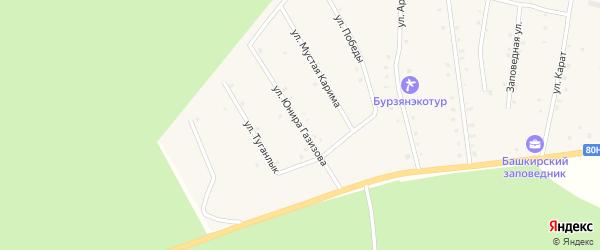 Улица Юнира Газизова на карте села Старосубхангулово с номерами домов