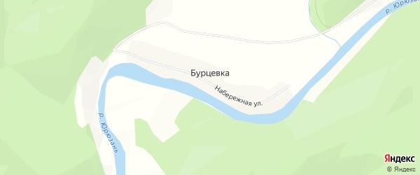 Карта деревни Бурцевки в Башкортостане с улицами и номерами домов