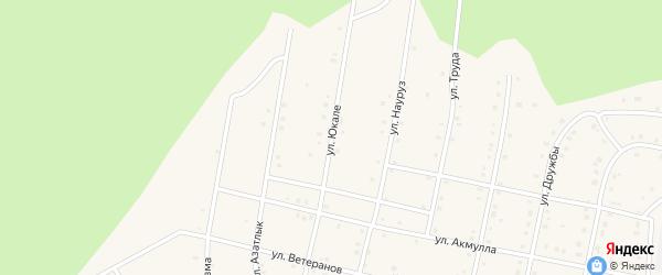 Улица Юкале на карте села Старосубхангулово с номерами домов