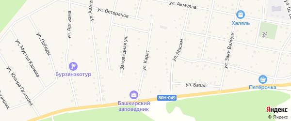 Улица Карат на карте села Старосубхангулово с номерами домов
