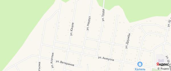 Улица Науруз на карте села Старосубхангулово с номерами домов