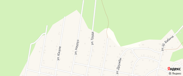 Улица Труда на карте села Старосубхангулово с номерами домов