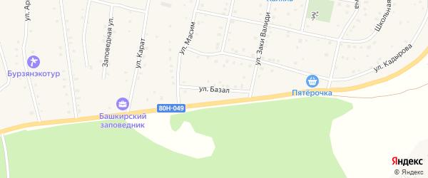 Улица Базал на карте села Старосубхангулово с номерами домов