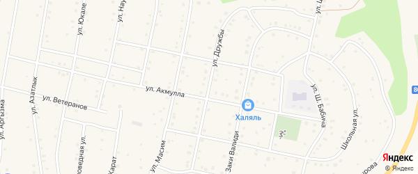 Улица Дружбы на карте села Старосубхангулово с номерами домов