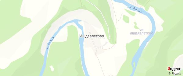 Карта деревни Ишдавлетово в Башкортостане с улицами и номерами домов