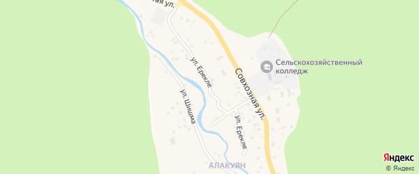 Улица Ерекле на карте села Старосубхангулово с номерами домов