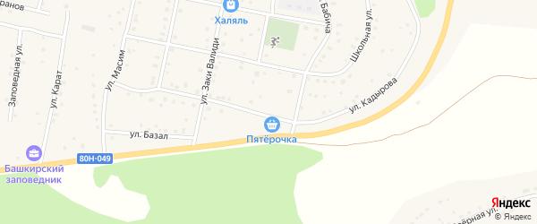 Улица Кадырова на карте села Старосубхангулово с номерами домов