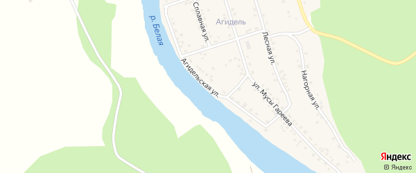 Агидельская улица на карте деревни Ишдавлетово с номерами домов