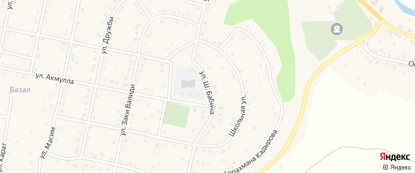 Улица Ш.Бабича на карте села Старосубхангулово с номерами домов