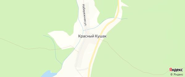 Карта хутора Красного Кушака в Башкортостане с улицами и номерами домов
