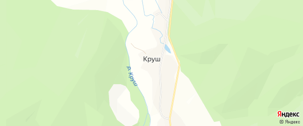Карта села Круша в Башкортостане с улицами и номерами домов