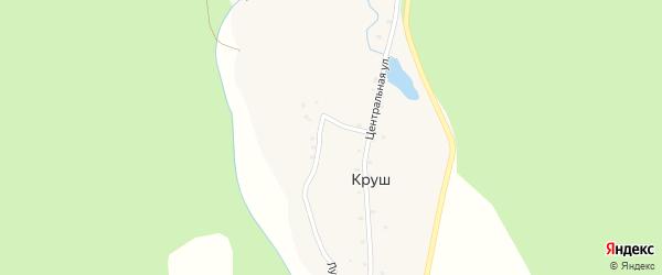Интернациональная улица на карте села Круша с номерами домов