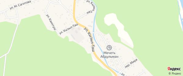 Улица Кызыл-Таш на карте села Старосубхангулово с номерами домов