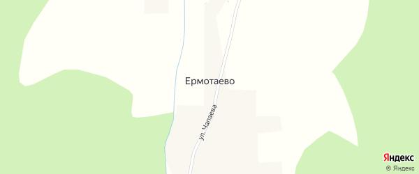 Октябрьская улица на карте деревни Ермотаево с номерами домов
