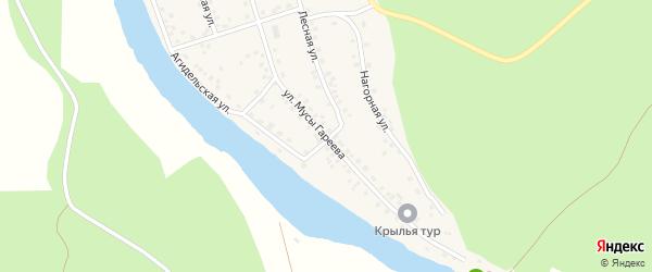 Улица Муса Гареева на карте села Старосубхангулово с номерами домов