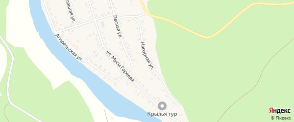 Нагорная улица на карте села Старосубхангулово с номерами домов