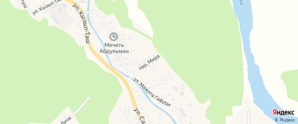 Улица Мира на карте села Старосубхангулово с номерами домов