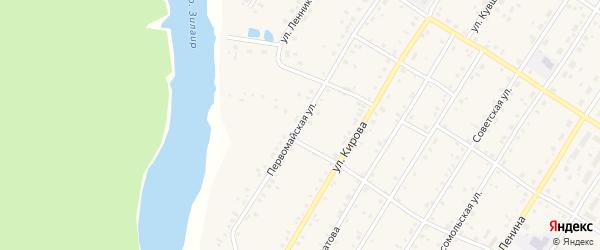 Первомайская улица на карте села Зилаир с номерами домов