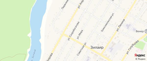 Улица Скоробогатова на карте села Зилаир с номерами домов