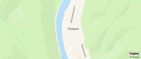 Карта деревни Озерки в Башкортостане с улицами и номерами домов