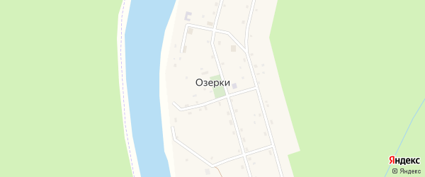 Нагорная улица на карте деревни Озерки с номерами домов