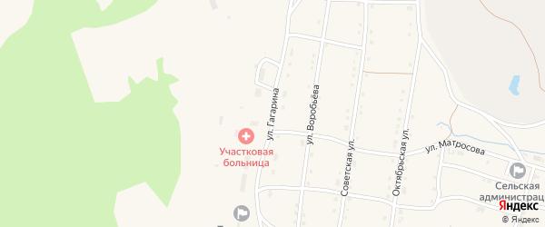 Улица Гагарина на карте села Тукана с номерами домов