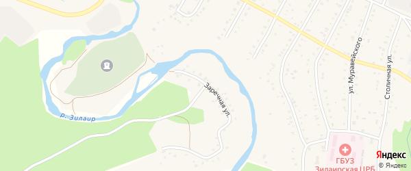 Заречная улица на карте села Зилаир с номерами домов