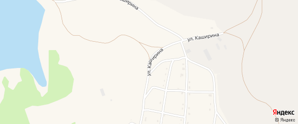 Улица Каширина на карте села Тукана с номерами домов