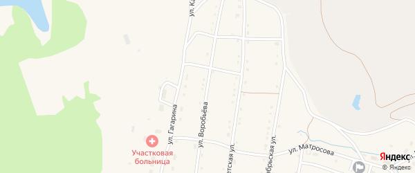 Улица Воробьева на карте села Тукана с номерами домов