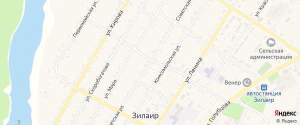 Советская улица на карте села Зилаир с номерами домов