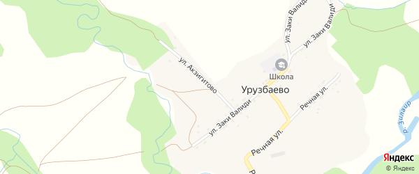 Улица Акзигитово на карте деревни Уразбаево с номерами домов