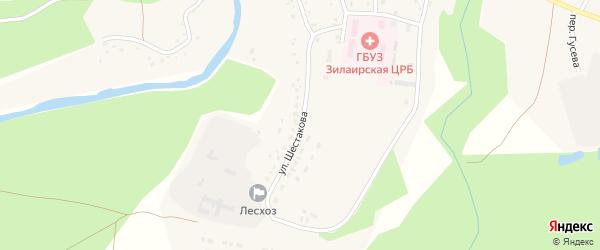 Улица Шестакова на карте села Зилаир с номерами домов
