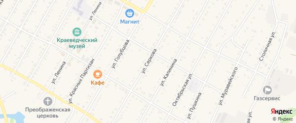 Улица Серкова на карте села Зилаир с номерами домов
