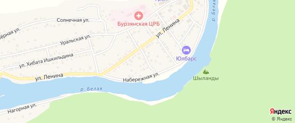 Лесной переулок на карте села Старосубхангулово с номерами домов