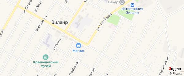Безымянный переулок на карте села Зилаир с номерами домов