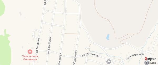Октябрьская улица на карте села Тукана с номерами домов