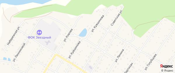 Улица Кувшинова на карте села Зилаир с номерами домов