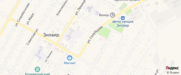 Улица Голубцова на карте села Зилаир с номерами домов