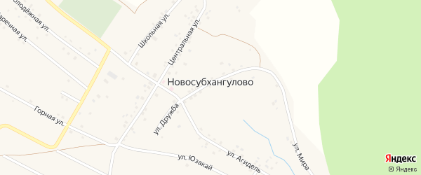 Улица С.Юлаева на карте деревни Новосубхангулово с номерами домов