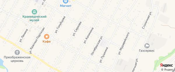 Улица Калинина на карте села Зилаир с номерами домов
